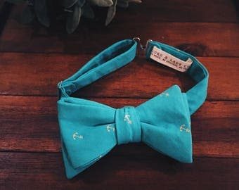 Bow Tie || Turquoise Anchor
