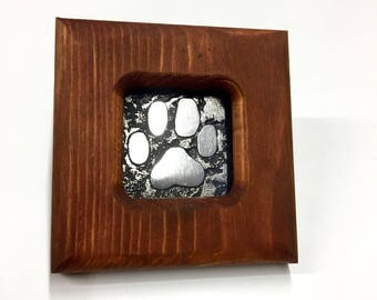 Dog - Etched Stainless Wall Art - Handmade, Frame and All