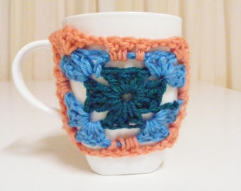 Granny square cup cozy