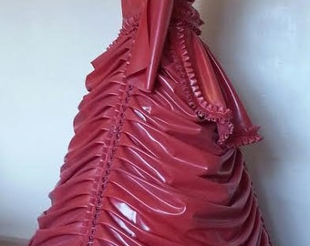 Latex Dress, Latex Steampunk Victorian Ball Gown