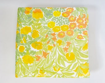 Floral Fabric MARIMEKKO Greens Yellows Orange PUUTARHA 100% Cotton