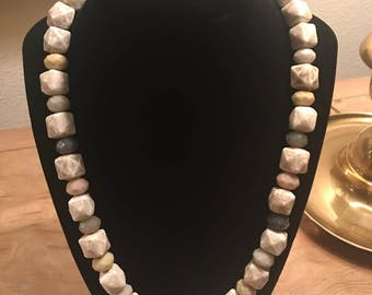 "Natural Colored Beads & Stone 20.5"" inch Necklace"