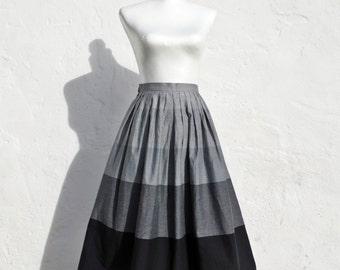 Grey skirt grey high waist skirt 50s style skirt petite grey skirt extra small grey skirt mad men skirt elegant grey skirt romantic skirt
