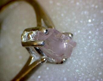 Stunning Pink Topaz Crystal Ring