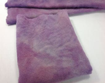 Lavender Fields, Hand Dyed Wool Fabric for Rug Hooking and Applique, 1) Fat Quarter Yard, W328, Medium Purple, Purple Heather
