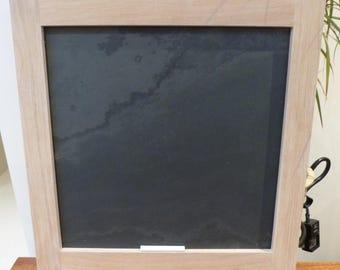 Solid oak framed slate board - chalk board - free delivery