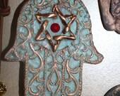 Hamsa wall decor, Hamsa wall hanging, Hamsa, wall hanging Hamsa, stone Hamsa, Turquoise, wall Hamsa