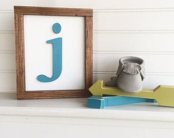 Baby Name Letter . Letter Sign . Alphapet Sign . Baby Shower . Baby Nursery . Nursery Letter . 8 x 7 .  3D letter . Woodland nursery