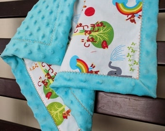 Soft Minky Lovey Blanket for babies, Security Blanket for babies, Minky Baby Blanket