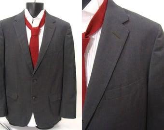 vintage 50s Sportcoat. 60s Charcoal Gray Blazer. Skinny Lapel Sportcoat. Lightweight Sportcoat. Summer Sportcoat. Mad Men Costume. size 40 M