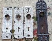 Lot of 4 Antique Escutcheon Doorplates