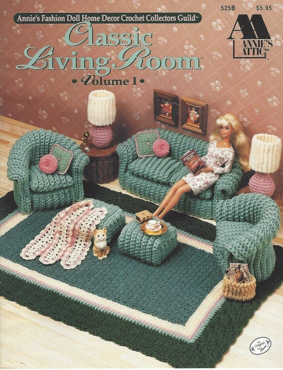 90s classic living room crochet doll furniture for barbie for 90s house classics list