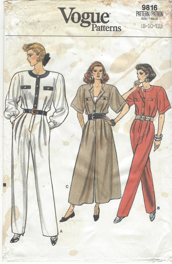 década de 1980 las mujeres enteritos Palazzo Pant Jumpsuit moda ...