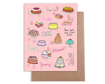 Cake Card - Blank