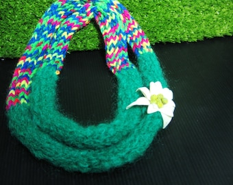 Edelweiss colorful neckwarmer
