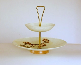 Vintage Tiered Stand, Fiberglass Tiered Tray, Mid Century Wedding, Candy Table Decor