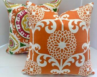 Decorative Pillow Cover in Citrus Orange
