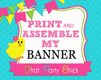Happy Birthday Assembled Banner Ready to Hang Bunting Shipped to You