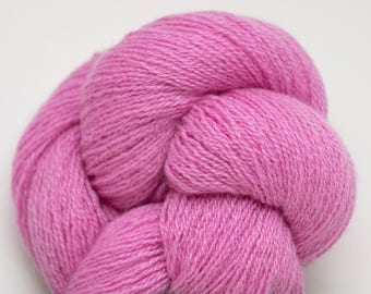 Stargazer Pink 2 Ply Heavy Lace Weight Recycled Cashmere Yarn, Bubble Gum Pink Two, CSH00115