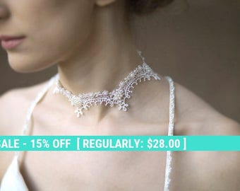 SALE! Lace necklace wedding neck piece bridal jewelry FREE SHIPPING