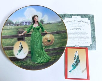 Bradford Exchange Collectors Plate GWTW The Costuming Of A Legend: Dressing Gone With The Wind - The Green Muslin Dress, MIB - 10th Issue