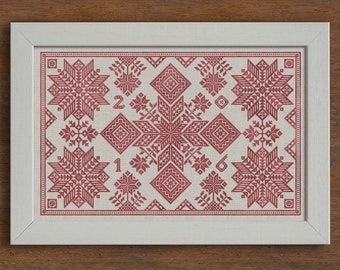 PDF Stars of the North cross stitch patterns by Modern Folk at thecottageneedle.com monochromatic woodland