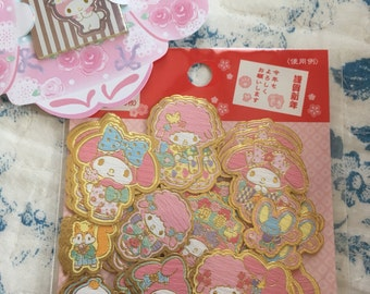 NEW Limited Edition 50 Sanrio My Melody sticker pack New Year