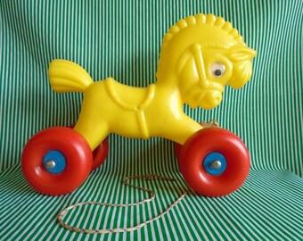 Vintage Pull-along Horse