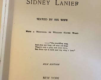 Porms of Sidney Lanier 1920
