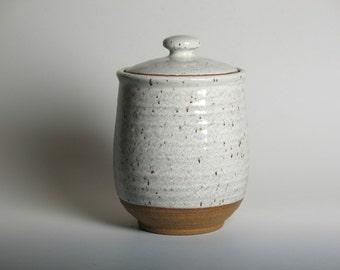 Lidded jar in white