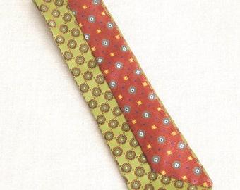 Mens Ties, Neckties, Vintage Silk Tie, Stripped, Stripes, Hand Embroidered, Olive Green, Upcycled, Wil Shepherd, Mans Tie, Neck Wear, Preppy