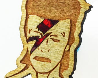 Bowie red abalone inlay pin