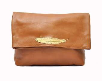 FEATHER 2.0 handmade leather crossbody bag, leather shoulder bag, leather handbag, leather handbags for women.