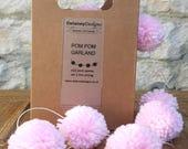 Pom Pom Garland Bunting Decoration Baby Pastel Pink