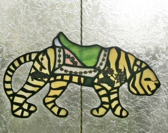 Stained Glass Carousel Figure Tiger  020