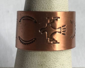 Adjustable Copper Band Ring