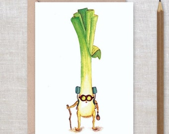 TRAVELLING LEEK - There's No Place Like Home - New home, graduation, I miss you, anniversary, hiker, travel Greeting Card