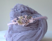 Photography Prop Lavender Wrap and Headband Set, Lavender Tieback and Cheesecloth Wrap, Newborn Photography Props by Verity Isabelle