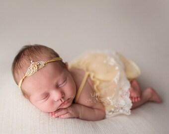 Newborn Dress Set, Photography Prop Outfit Baby Dress and bloomers, Chiffon & Lace Sun Dress, Photography Prop, UK Sellerd Bloomers, Ba