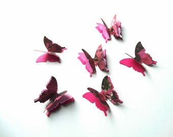 3D Paper Butterflies, birthday party decor, bridal shower accents, wedding decor, anniversary party, garden party accents, romantic decor