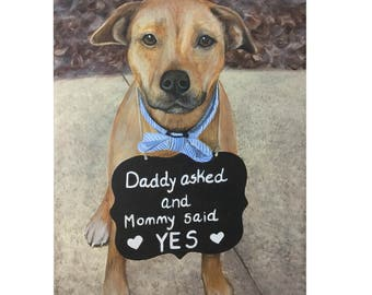 Father's Day gift Yellow labrador retriever dog painting from photo custom pet portrait on canvas hand painted