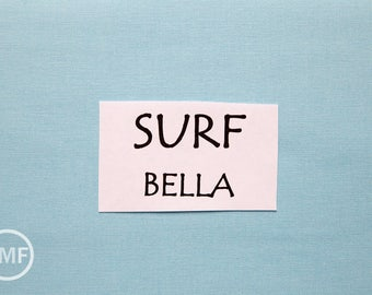 One Yard Surf Bella Cotton Solid Fabric from Moda, 9900 193