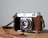 Vintage Kodak Retina IIc 35mm Film Rangefinder Camera, Type 020 50mm f2 Xenon Lens with Original Leather Case