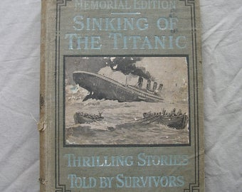 "Antique ""Sinking Of The Titanic"" VERY RARE COVER Memorial Edition"
