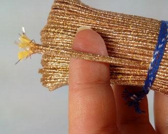 54.68 yards (50m) Metallic Gold Soutache Braid Soutache jewelry making Soutache cord russian braid soutache trim bracelet cords trim