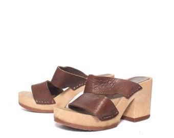 40% off SALE 8 | Women's Platform Sandals w/ Tooled Leather Straps