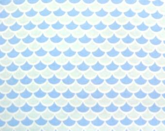 Flannel Fabric by the Yard in a Fun Baby Blue on Blue Print 1 Yard