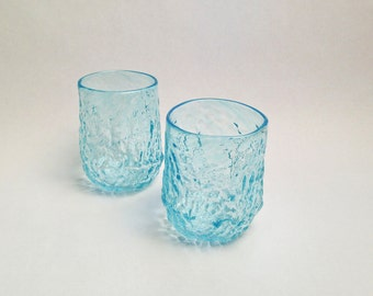 Sea Coral Glass in Pale Blue /Handblown Glass / Transparent Sea Glass / Holiday Entertaining