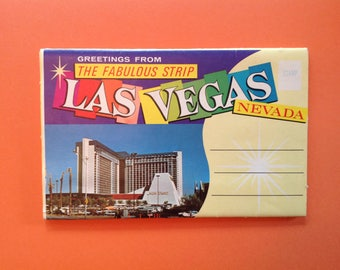 Las Vegas 1956 Postcard Booklet Accordion Souvenir
