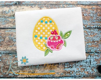 Flower Egg Applique
